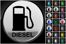 Diesel fuel only voiture van bouchon de carburant cover sticker 75mm decal 21 couleur