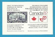 CP souvenir card SO 26 Stamp Market Place 1981 Canada 1933 5c Royal William ship