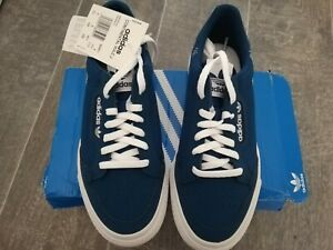 ADIDAS BNIB Junior Boys Suede Blue Low Top Trainers Size UK4