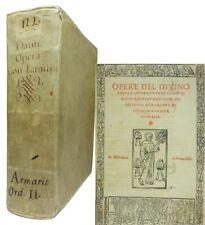THE DIVINE COMEDY OF DANTE ALIGHIERI 1520 Woodcut Illustrations, Landino's Comms
