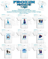 Frozen Elsa Anna Personalised T Shirt Childrens Kids Boys Girls 9 designs gift