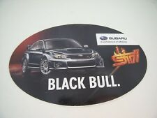 RARE Autocollant / Sticker SUBARU STI BLACK BULL CONFIDENCE IN MOTION TOP