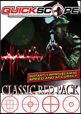 Quickscope Gaming Crosshairs Classic Red 4 Pack Standard Size Screens under 38""