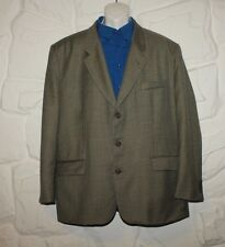 Grey Checkered Fabric NO 1 Button Hip Length Casual Jacket Blazer Chest Size 53""
