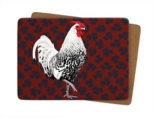 Rooster Table Mat | Leslie Gerry, Placemat, Cork-backed