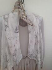 REDUCED YET AGAIN! WEDDING? Gerard Darel Beautiful Grey Silk Dress,Jewelled Belt