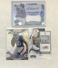 3x 2015 Topps Finest Karlos Williams REFRACTOR JERSEY AUTO RC Autograph Bills