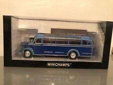 Mercedes-Benz O3500 Haubenbus 1/43 Minichamps in blau Oldtimer-Bus