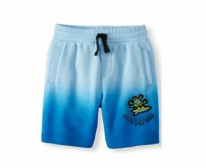 365 Kids from Garanimals Boys French Terry Shorts Size 6 Ombre Surfs Up Alien