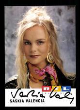 Saskia Valencia RTL Autogrammkarte Original Signiert # BC 94178