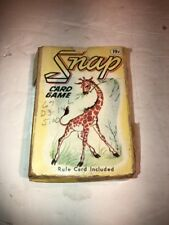 Whitman Snap Card Game Complete 45 Cards Original Box Marked 19 Cents Vintage