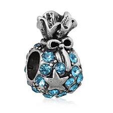 Christmas Gift Bag Charm Bead for European Snake Chain Charm Bracelet