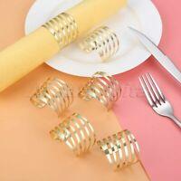 6Pcs European Style Napkin Rings Dinner Table Decor Wedding Serviette Holders