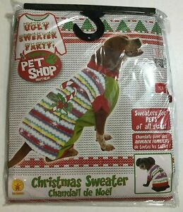 Rubies Pet Shop Christmas Ugly Sweater For Dogs NEW BJ