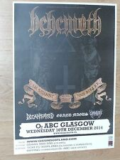Behemoth + Decapitated, Grand Magus - Glasgow dec.2014 tour concert gig poster