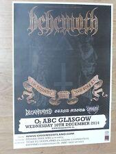Behemoth + Decapitated, Grand Magus - Glasgow dec.2014 tour concert gig poster