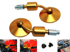 High Quality Ally Yamaha GOLD Motorbike Bar End Mirrors with M10 Blanking Plugs
