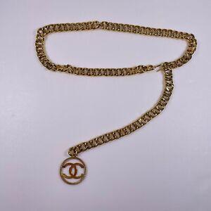 CHANEL Gold Chunky Chain CC Charm Belt