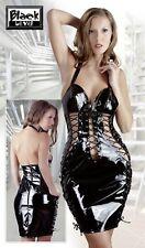 Abito vinile nero lucido Taglia L Black Level sexy shop erotic donna 2850460 SC