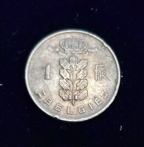 1952 BELGIUM 1 FRANC CIRCULATED COIN