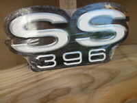 CHEVROLET CHEVY SS396  EMBOSSED  METAL SIGNS MAN CAVE  GARAGE Cool! 12 BY 6