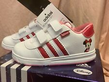 Adidas Superstar Inspired II Minnie Mouse Trainers Size 6 EU 23 White Red Pink