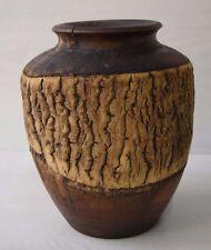 Vintage Decorative Art Deco Hollow Retro Collectible Wooden Vase For Dry Flowers