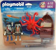 Playmobil 5900 Ghost Pirates, Row Boat, Octopus  - 15 pcs - NEW