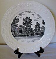 Homer Laughlin Eggshell Commem Plate First Presbyterian Church Ridgewood NJ 1823