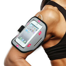 """Premium Sport Armband (w/ Hot Pink Flashing Lights) for iPhone SE 5S 5 (4.0"""")"""