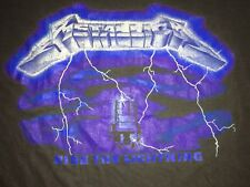 1984 Vintage METALLICA Ride The Lightning Euro Tour Shirt Paper Thin