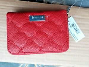 HARRODS Acton RED Short Ladies Wallet 3 x 4in  Wonderful NEW with TAG * L@@@K