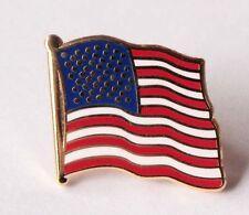 New listing Stylish 1pcs American Waving Flag Lapel Pins - Patriotic Us U.S. Usa U.S.A. Mm20