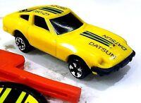 RARE 1980 Kidco Burnin KEY Car DATSUN 280 ZX w LAUNCH KEY Yellow VINTAGE 1/64