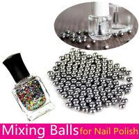 5mm  Nail Art Stainless Steel Polish Mixing Agitator Ball  20/100pcs