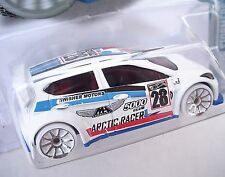 ARCTIC RACER White WHEELS HW Snow Stormers DHR58 2012 Ford Fiesta SEALED Pack