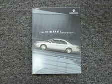 2003 Mercury Sable Sedan Wagon Owner Manual User Guide Book GS LS Premium 3.0L