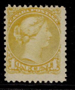 CANADA QV SG93, 1c lemon-yellow, LH MINT. Cat £300. PERF 11½ X 12