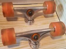 2 Skateboard Rimable Axles with Sunset 78a/55 Wheels