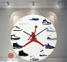 "Premium 12"" Clock Air Jordan 1-12 Blue 2D Quartz nike supreme off white yeezy"