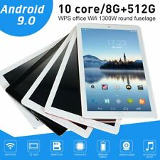 10.1Inch Tablet PC Android 9.0 HD 8G+512G 10 Core Google WIFI GPS+Dual Camera US