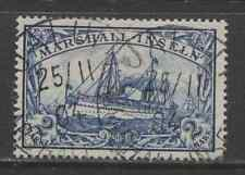 1901 German colonies MARSHALL ISLANDS  2 Mark Yacht issue  used, -JALUIT-, € 140