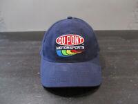VINTAGE Nascar Hat Cap Strap Back Blue Yellow Jeff Gordon Racing Racecar Men 90s