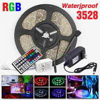 5M LED Strip Light Waterproof 3528 RGB 12V 60leds/m Flexible tape rope Light