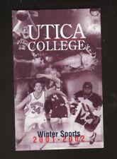 Utica Pioneers--2001-02 Hockey/Basketbal/Winter Sports Pocket Schedule