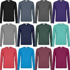 New Men Ex-Store Soft Jumper V Neck  Soft Touch Knitted Sweater Pullover M-5XL