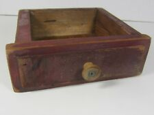 Antique Primitive Barn Wood  Box Tray Drawer Hand Made With Wood Knob