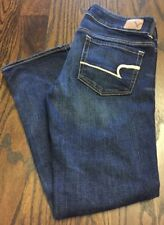 American Eagle Women's Super Stretch Artist Crop Jeans Size 4 Regular #321