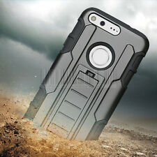 Heavy Duty Rugged Shockproof Hybrid Armor Cover Stand Case For Google Pixel