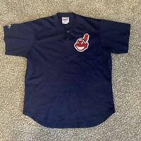 Vintage 90s Cleveland Indians Chief Wahoo Logo Baseball Jersey Men's Size XL MLB